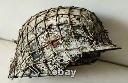 Restored original German Helmet M35/66 Winter WW2 Wehrmacht Original Dug relic