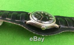 SIEGERIN 595 D Original German WWII Luftwaffe Wrist Watch Fully Functional