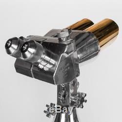 STUNNING 20thC WWII GERMAN SHNEIDER FLAK BINOCULARS ON TELESCOPIC STAND c. 1940