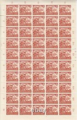 Stamp Germany Mi 831-42 Sc B218-29 Sheet 1943 WWII Reich Memorial Wehrmacht MNH