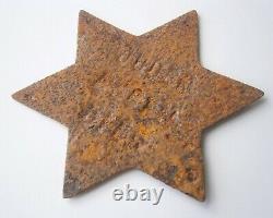 Star of David GERMANY Pre WW2 wwII JEWS LIVE HERE German JUDEN LEBEN HIER Judaic