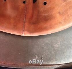 Superb original M40 ET64 German helmet shell with original interior paint