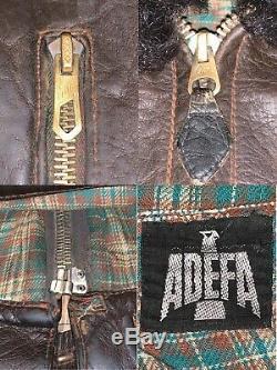 TEXTBOOK WW2 Luftwaffe German pilot leather flight jacket ADEFA 1930´s calfskin