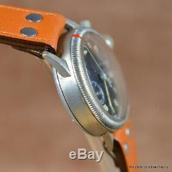 Tutima Glashutte Wwii Urofa 59 Fleiguhr German Issued Pilot Watch 39mm Radium