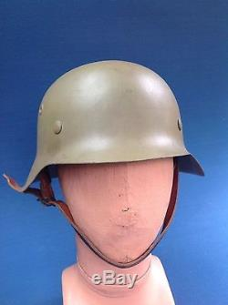 Very Scarce Itailian Campagain German M42 Infantry Helmet Ww2 Original