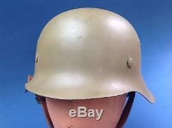 Very Scarce Original Italian Campaign German M42 Infantry Helmet