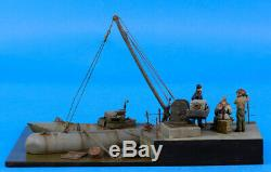 Verlinden Built 135 WWII German Biber & Moich Sub Original Display #VPBDiosubma