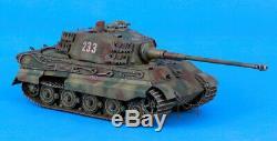 Verlinden Built 135 WWII German King Tiger Henschel Original Display #VPBKTHen