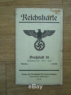 Very Large Original WW2 German Reich Map Document 1939 Wehrmacht