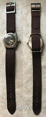 Vintage Doxa DH Wehrmacht caliber 121 WWII German Military Watch Original Cond