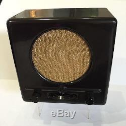 Vintage Original 1938 GERMAN WW2 TUBE RADIO Deutscher Kleinempfänger BRAUN WWII