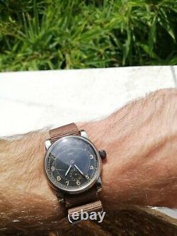 Vintage WW2 German aviator pilot's watch Luftwaffe 38mm