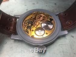 Vintage WWII GERMAN WEMPE B-Uhr 1941 Luftwaffe Military Pilot's Watch HUGE 55 mm