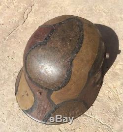 WW1 German Combat Helmet Named Original 1916 1918 Baer M1 Italian Camo WW2