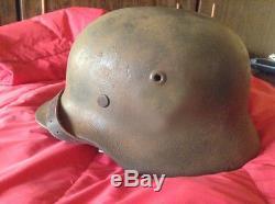 WW2 Cool original german combat SS helmet named and double decals