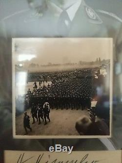 Ww2 German Autograph Hand Signed Original Display With Photo Heinrich