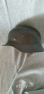 WW2 GERMAN HELMET. X SINGLE DECAL LUFTWAFFE COMBAT original