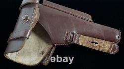 WW2 GERMAN HOLSTER, BROWNING, BROWN, jhg 43, MINT