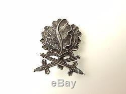 Ww2 German Oak Leaves To Kc With Swords Silver Original