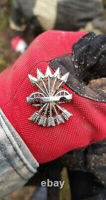 WW2 GERMAN SPAIN BLUE DIVISION FALANGE cap badge ORIGINAL from KURLAND wehrmacht