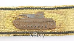 Ww2 German Tank Strip In Gold, Rare Original