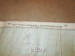 WW2 German 12000000 Fliegerkarte Pilot Map Battle of Britain RARE