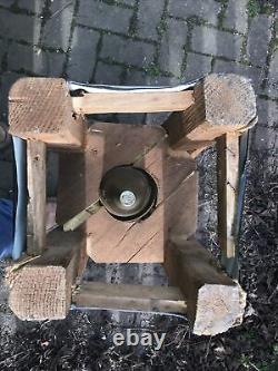 WW2 German 150mm Artillery Shell + Impact Fuse In Original Cradle