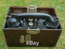WW2 German Army Field Telephone, Dated 1940, Original Wehrmacht
