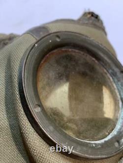 WW2 German Army M30 Canvas Gasmask & Canister WWII Original