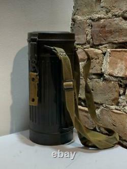 WW2 German Army M30 Gasmask & Canister WWII Original AUER Berlin GREY