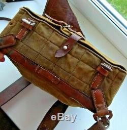 WW2 German Backpack field bag pony fur marked Breslau 1940 Wehrmacht Original