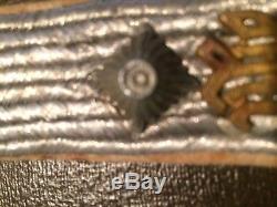 WW2 German Elite collar tab + shoulders board 100% original waffen xx LAH