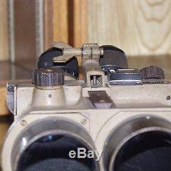WW2 German FLAK Binoculars 10x80 cxn with Wooden Tripod ORIGINAL NOT RESTORED