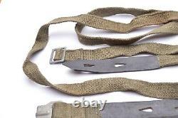 WW2 German GASMASK CANISTER STRAPS. MINT ebd44 Late war! Set