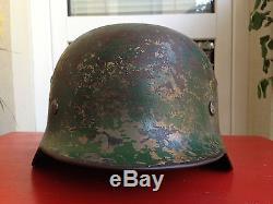WW2 German Helmet Luftwaffe DD Camo Original