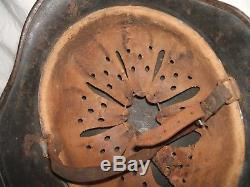 WW2 German Helmet M35 with Liner and Chinstrap Q64 Original