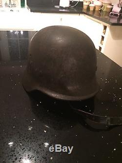 WW2 German Helmet Original Complete With Liner And Chin Strap