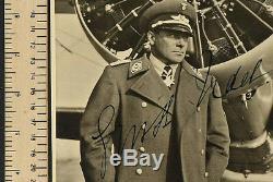 WW2 German Luftwaffe Autograph ERNST UDET Signed Photo in 1934 9 1/2 x 7 Inch