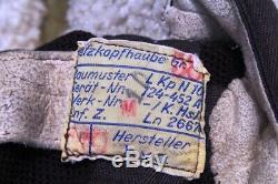 WW2 German Luftwaffe Pilot LKpN101 Netzkopfhaube Pilot Flight Helmet Ln. 26670