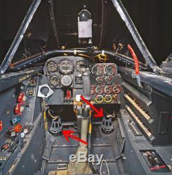 WW2 German Luftwaffe Rudder Pedal Set 100% ORIGINAL Me109 Me262 Fw190 NICE
