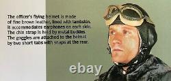 WW2 German Luftwaffe officer's flying helmet. Bomber pilot