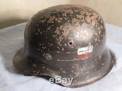 WW2 German M42 Helmet -POLISH UPRISING 1944- Original German Stamp & ET66