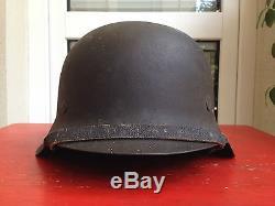 WW2 German M42 ND Heer Helmet Named and Original