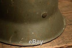 WW2 German M42 helmet, HKP66 Original