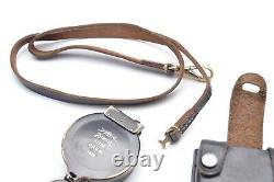 WW2 German MAP/DISPATCH CASE MARCH COMPASS and STRAP /CASE Busch 1934 year DRGM