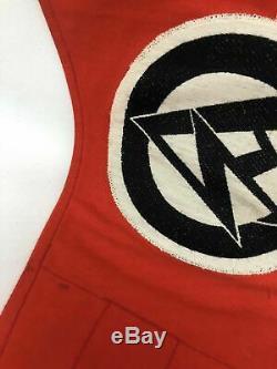 WW2 German Militaria Original SA Pennant with RZM Tag WWII Flag Banner