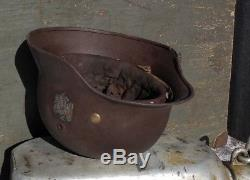 WW2 German Original Helmet M-35 NS62 In excellent condition with liner