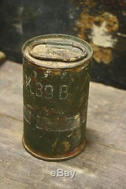 WW2 German Original N. B. K 39 B Nebelkerzen Relic Empty Collectable Potato Box