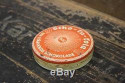 WW2 German Original Rare Scho Ka Kola Chocolate Wehrmacht Packung 1939 Container
