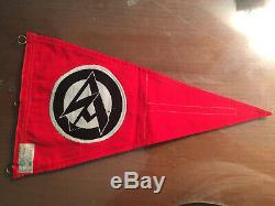 WW2 German Original SA Pennant with RZM Tag WWII Flag Banner